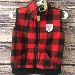 Baby Boy Clothing Vest ZipUp Plaid